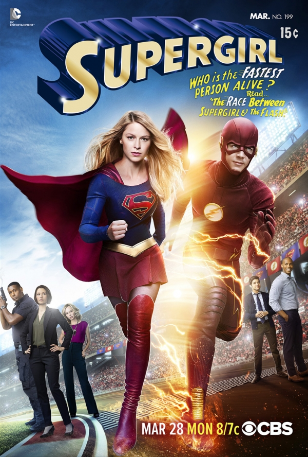 Poster crossover Supergirl &The Flash