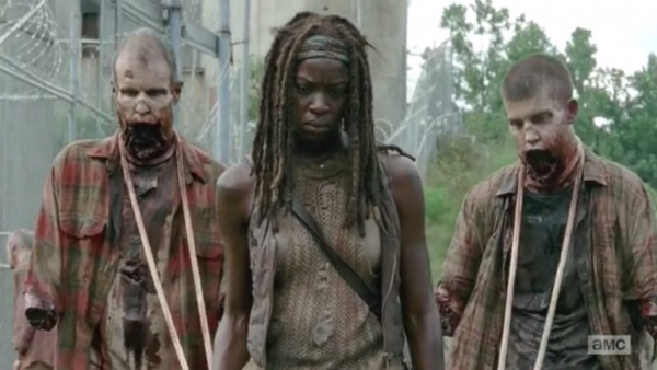 Zo vertrekt Michonne uit The Walking Dead