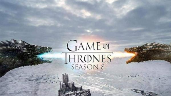 Grote namen samen op set 'Game of Thrones'