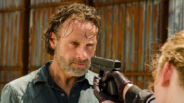 Andrew Lincoln is enorm intens in The Walking Dead