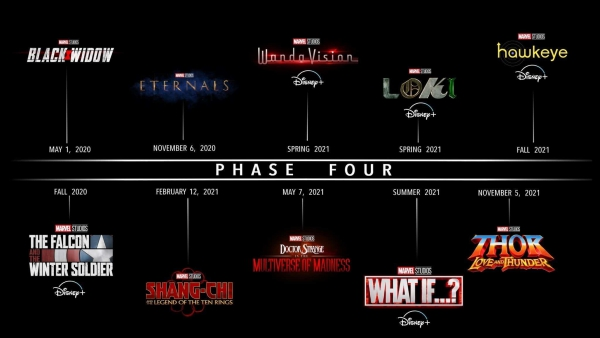 Marvel-logo's voor Phase 4-series onthuld!