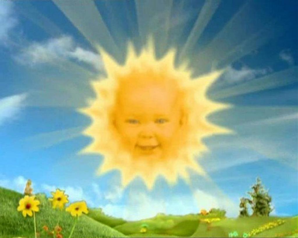 Jess smith 39 ik ben de zon baby in teletubbies 39 - Soleil teletubbies ...