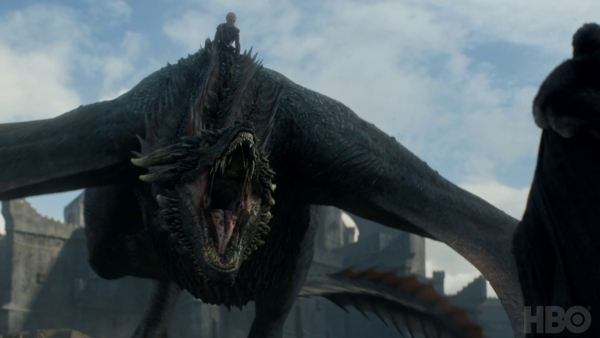Jon Snow ontmoet Drogon promo Game of Thrones